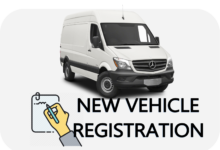 NEW VEHICLE REGISTRATION VAN