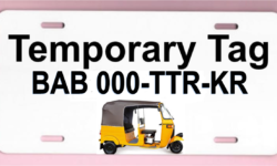 temporary tag KEKE