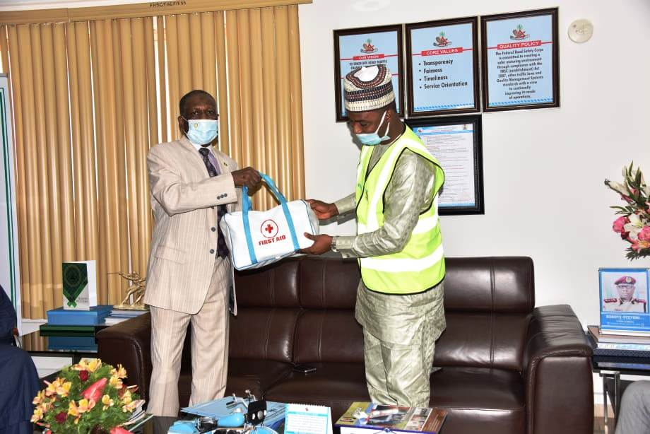 FRSC Offers Scholarship Opportunities and   Donates Road Safety Gadgets to SLRSA