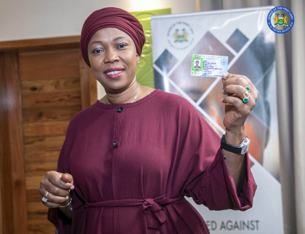 First Lady Receives Biometric Driver's License, Commends SLRSA for Prioritizing H.E Bio's Safety and Security Agenda